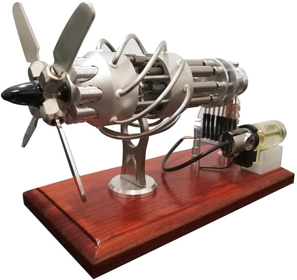 16 cylinder stirling engine model
