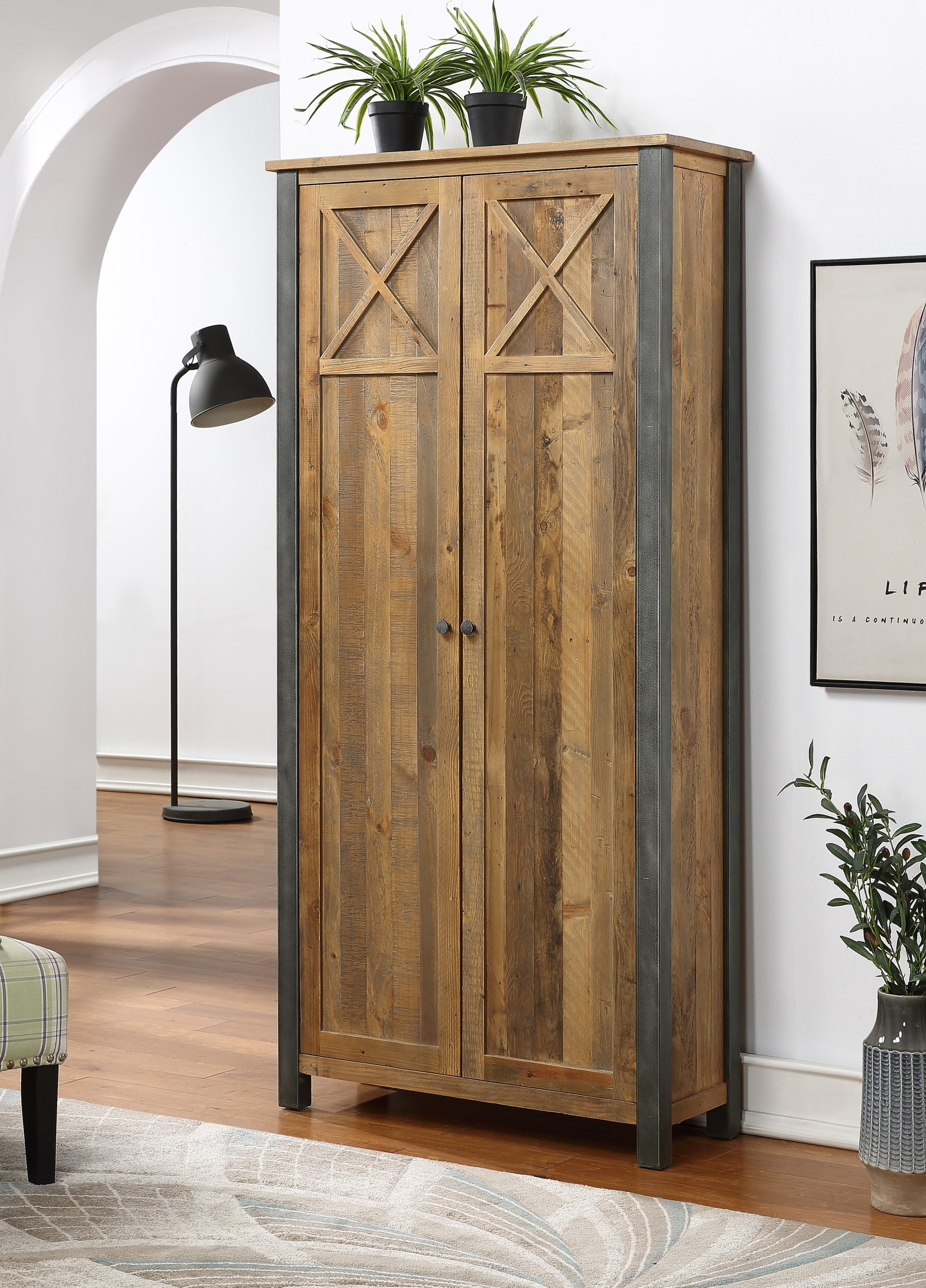 tall living room storage cabinet