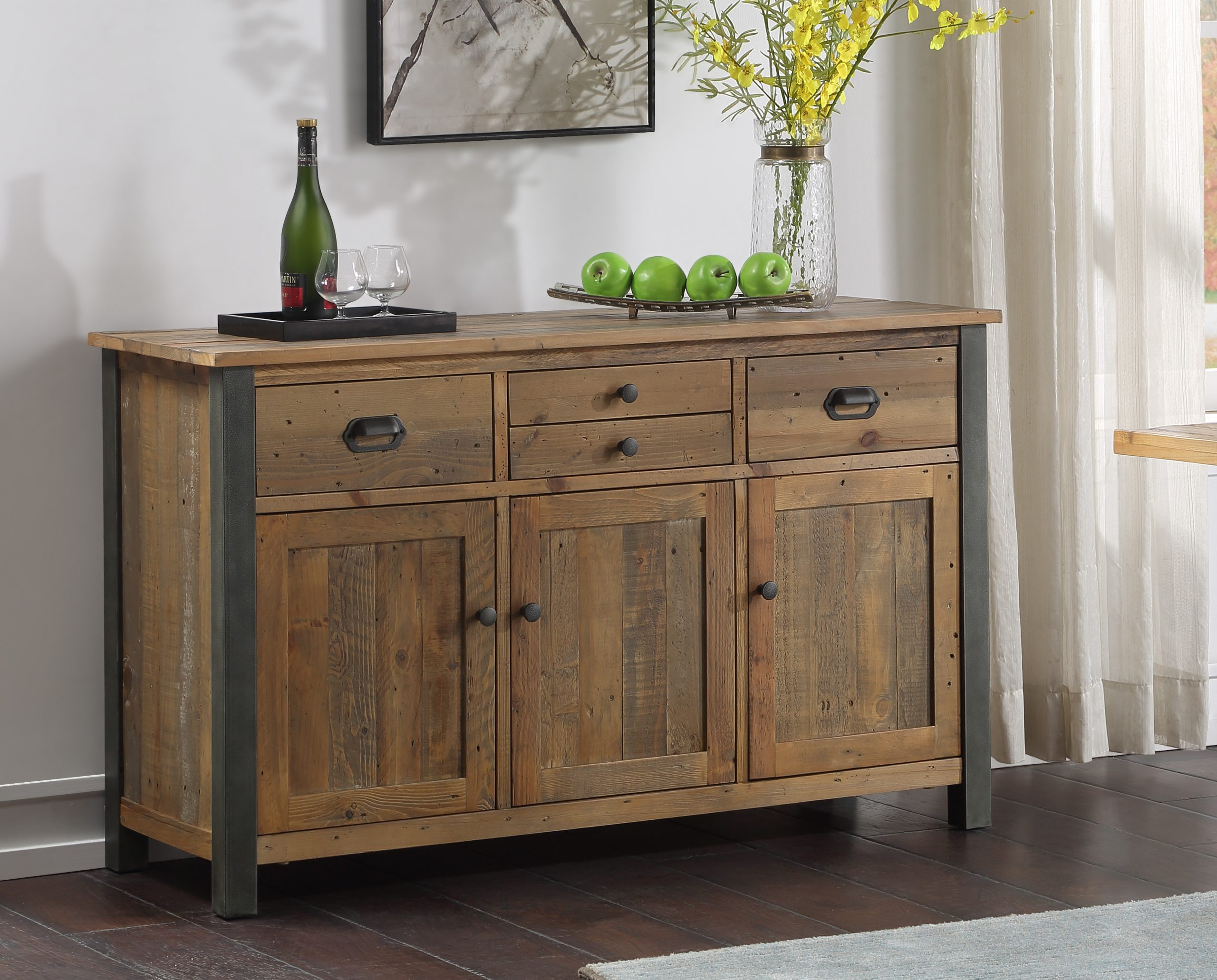 large recycled wood sideboard