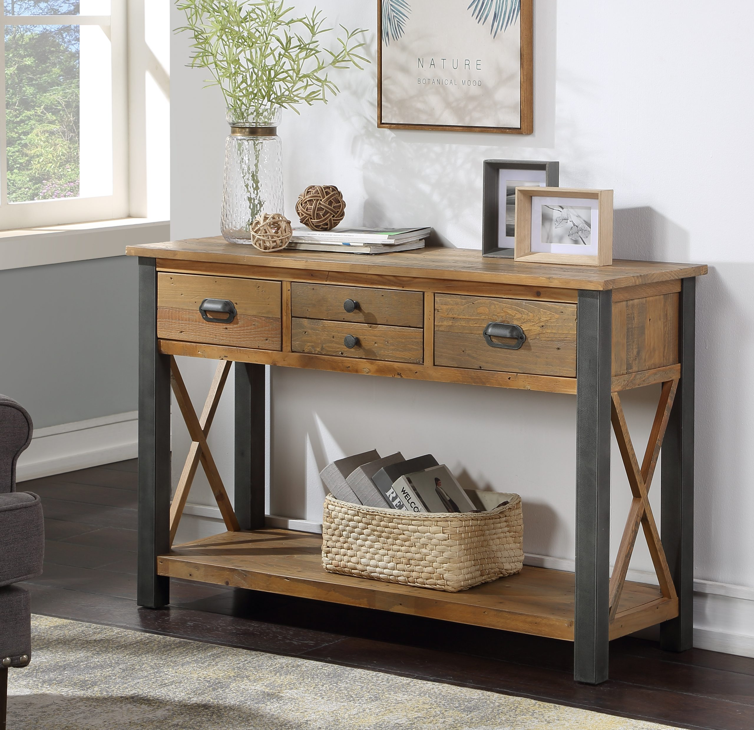 wide console table - four drawers