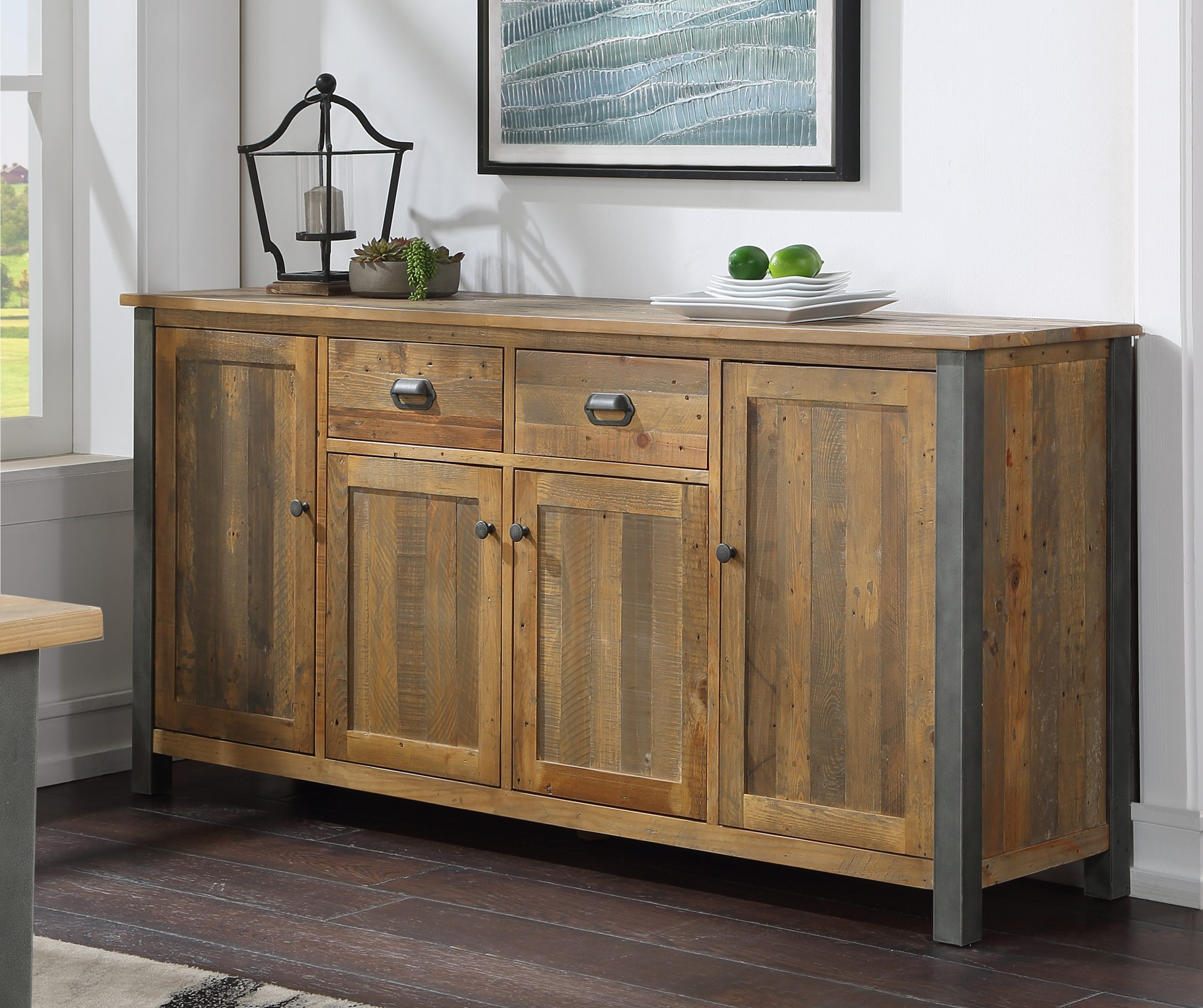 extra-large recycled wood sideboard