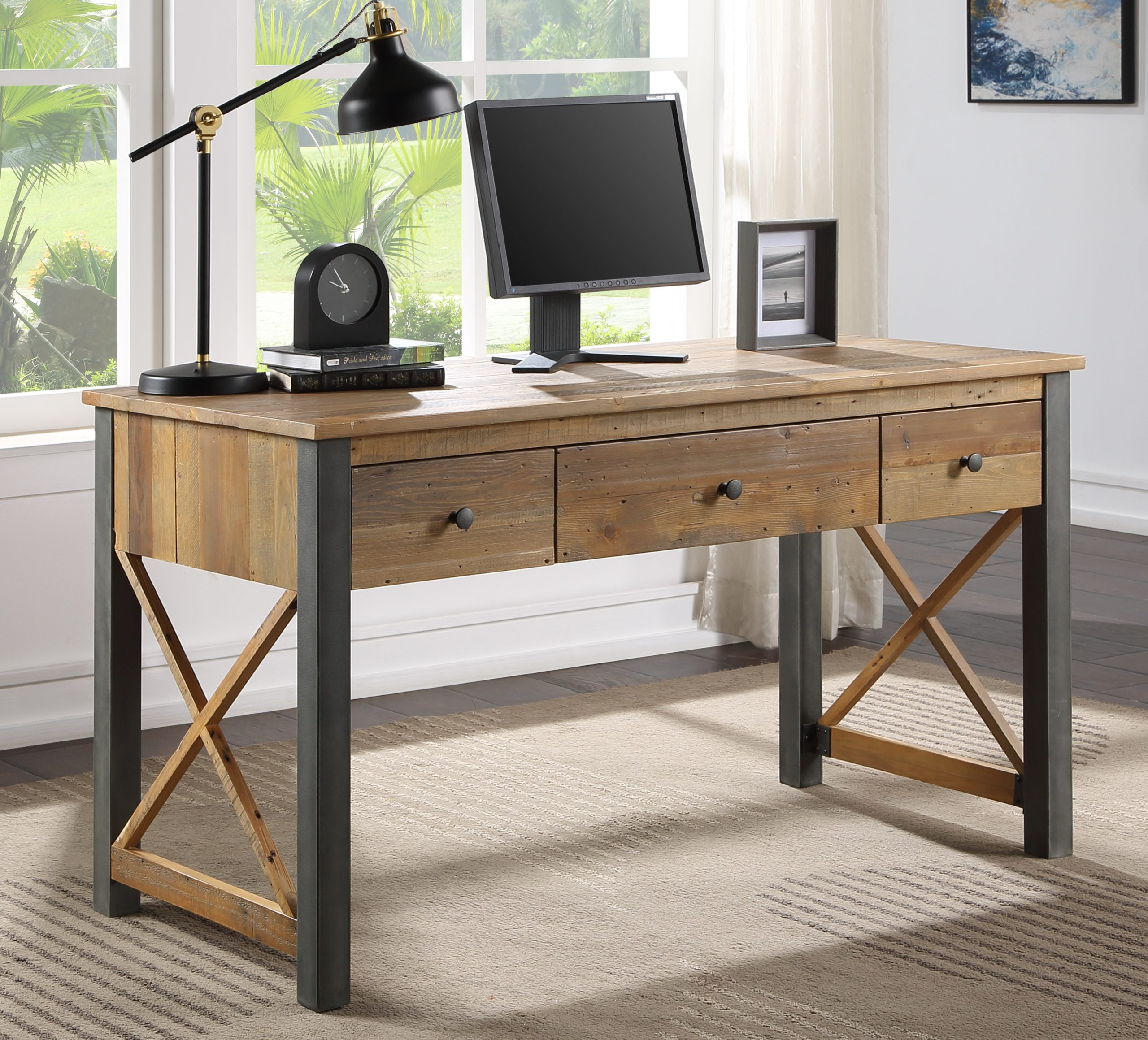recycled wood desk ... or dressing table