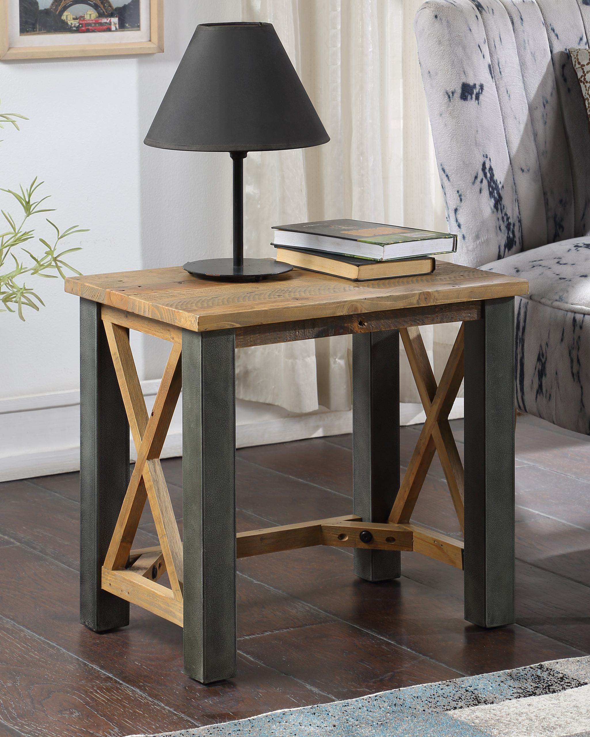 open front lamp table