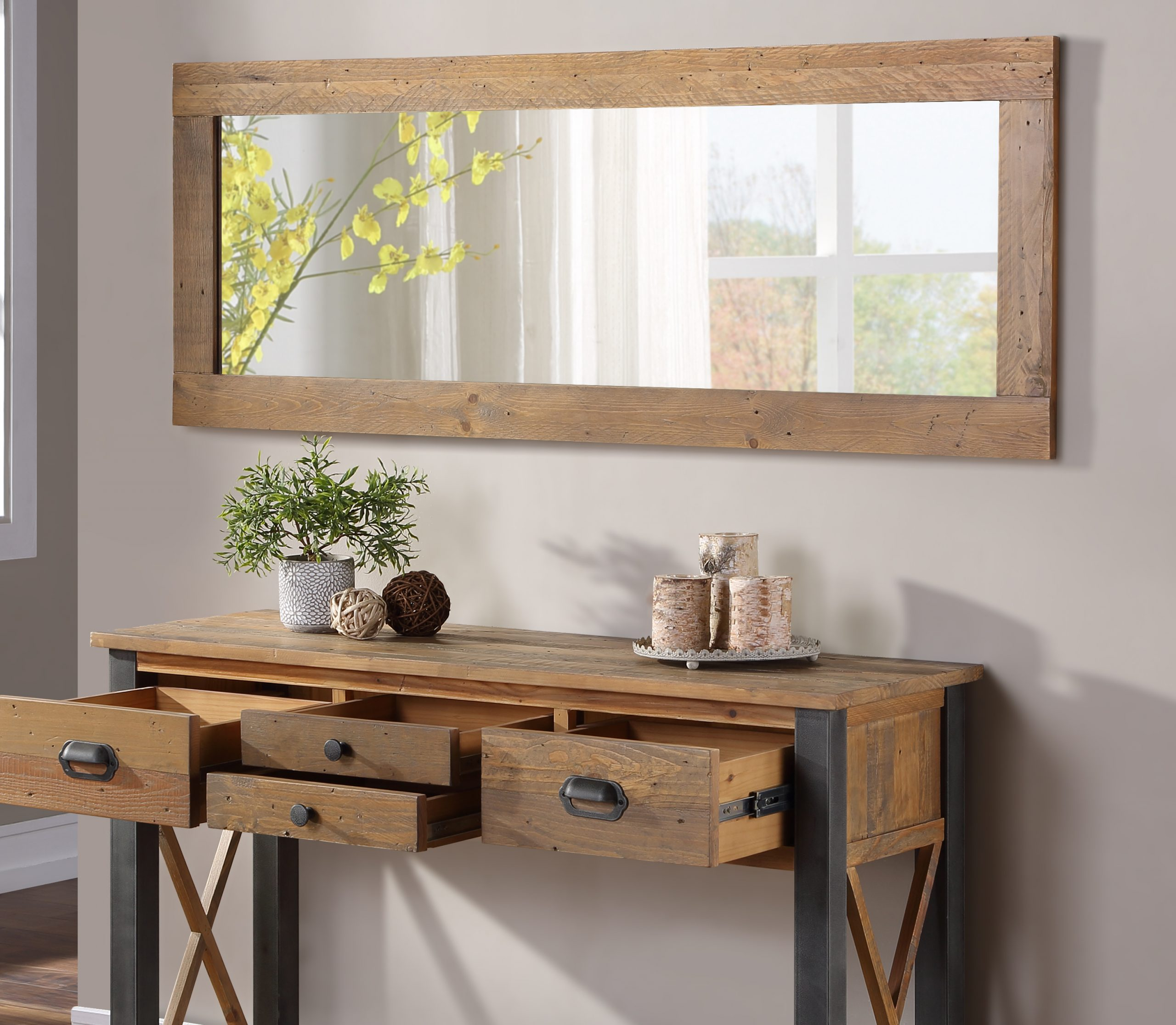 extra long wall mirror - landscape