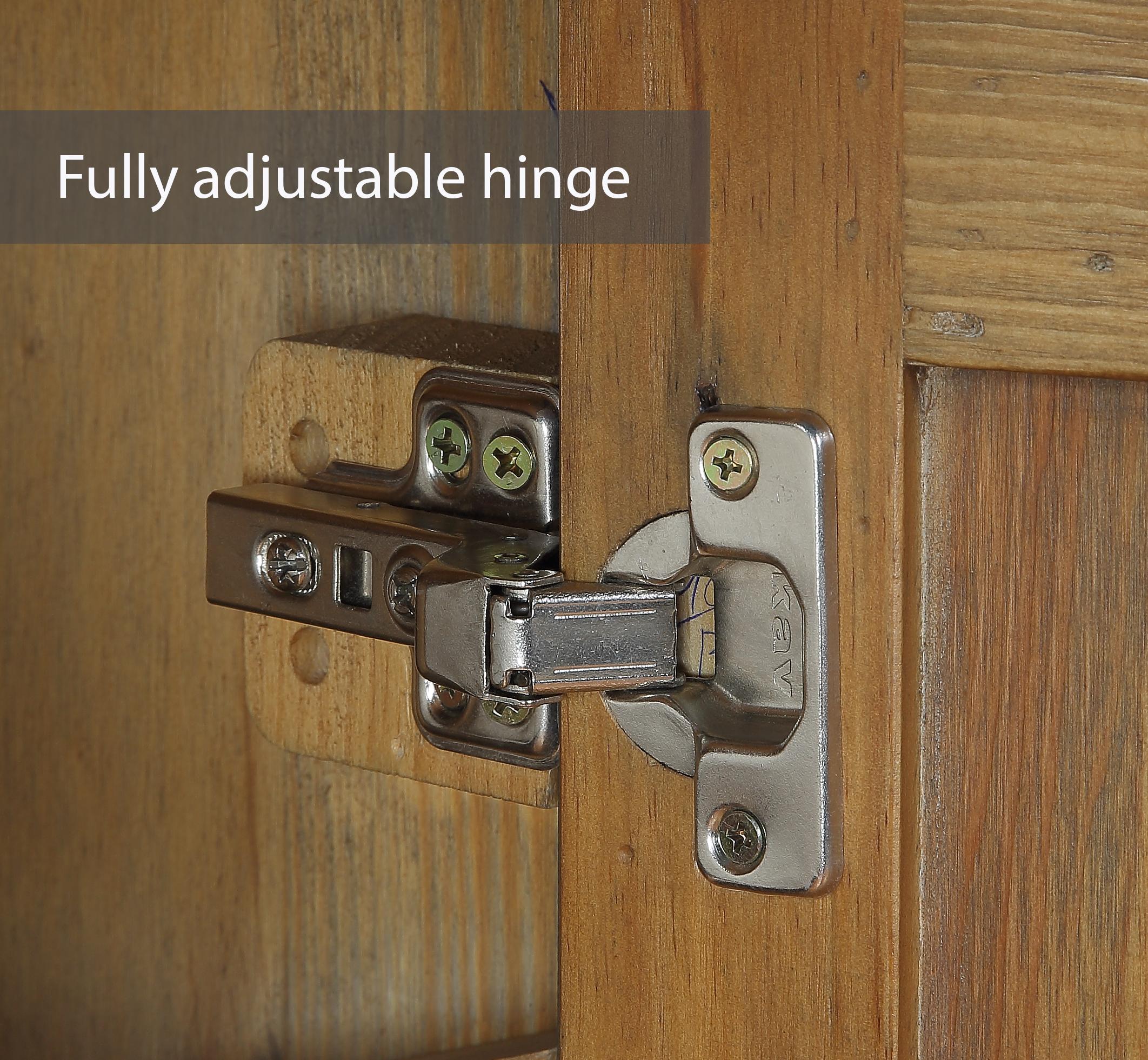 a fully adjustable door hinge