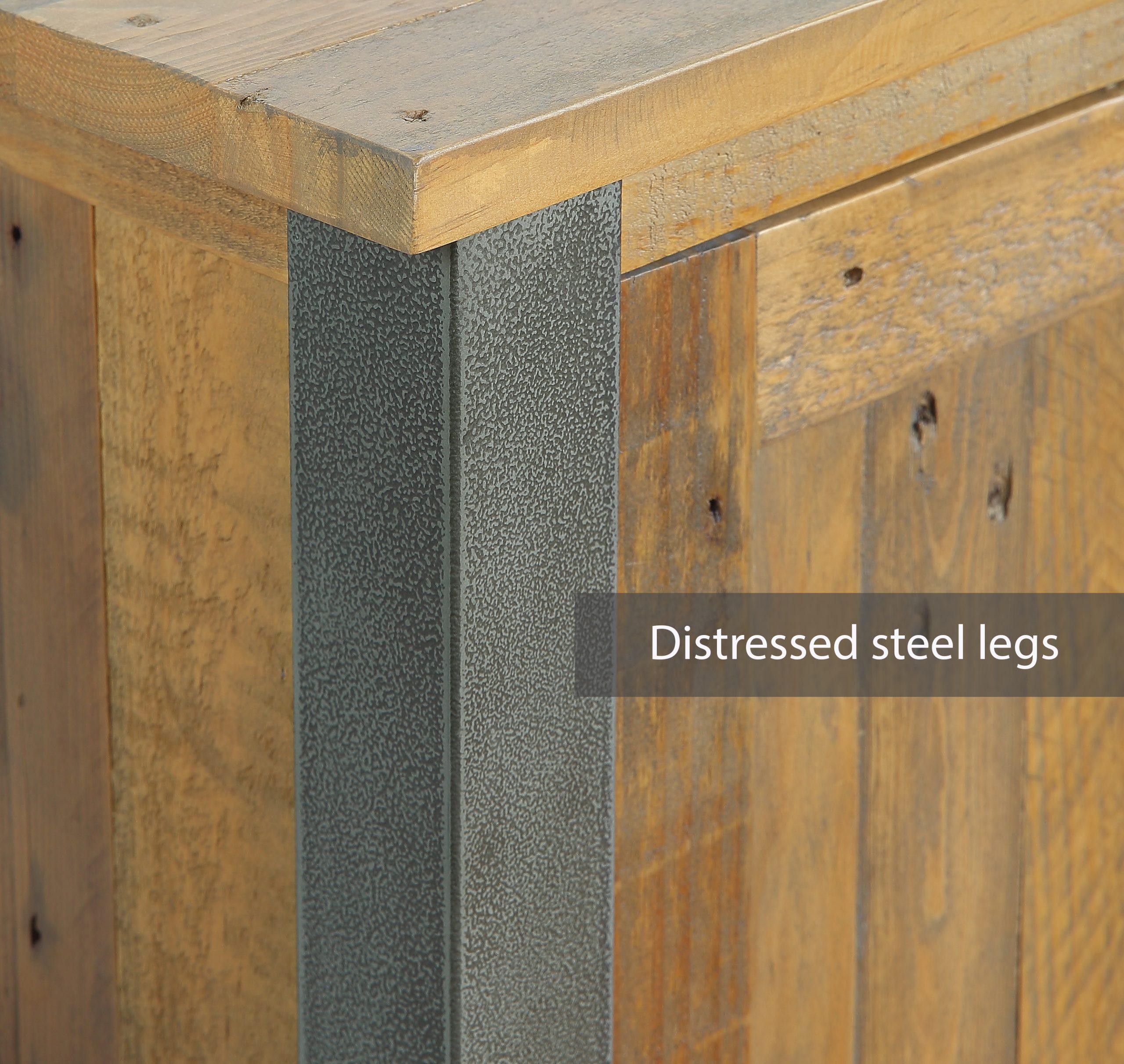 distressed metal legs