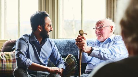 Old gentleman talking