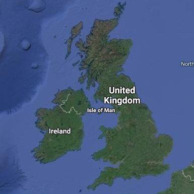 satelite map united kingdom and ireland