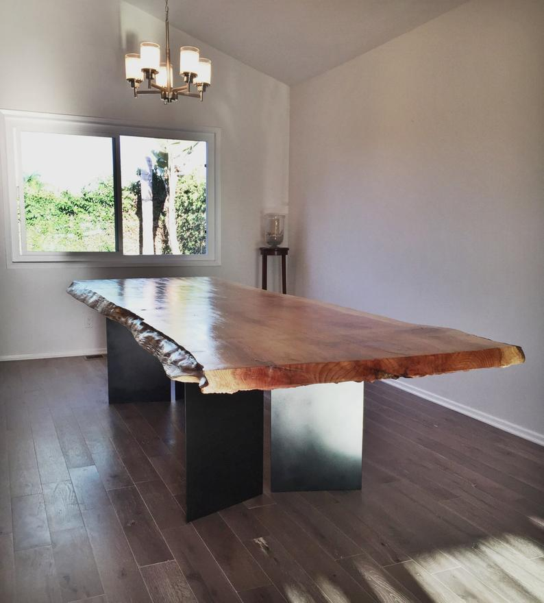 Brown Live edge Table