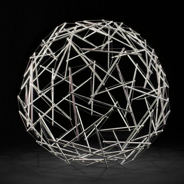 90-Strut Tensegrity Geodesic Dome
