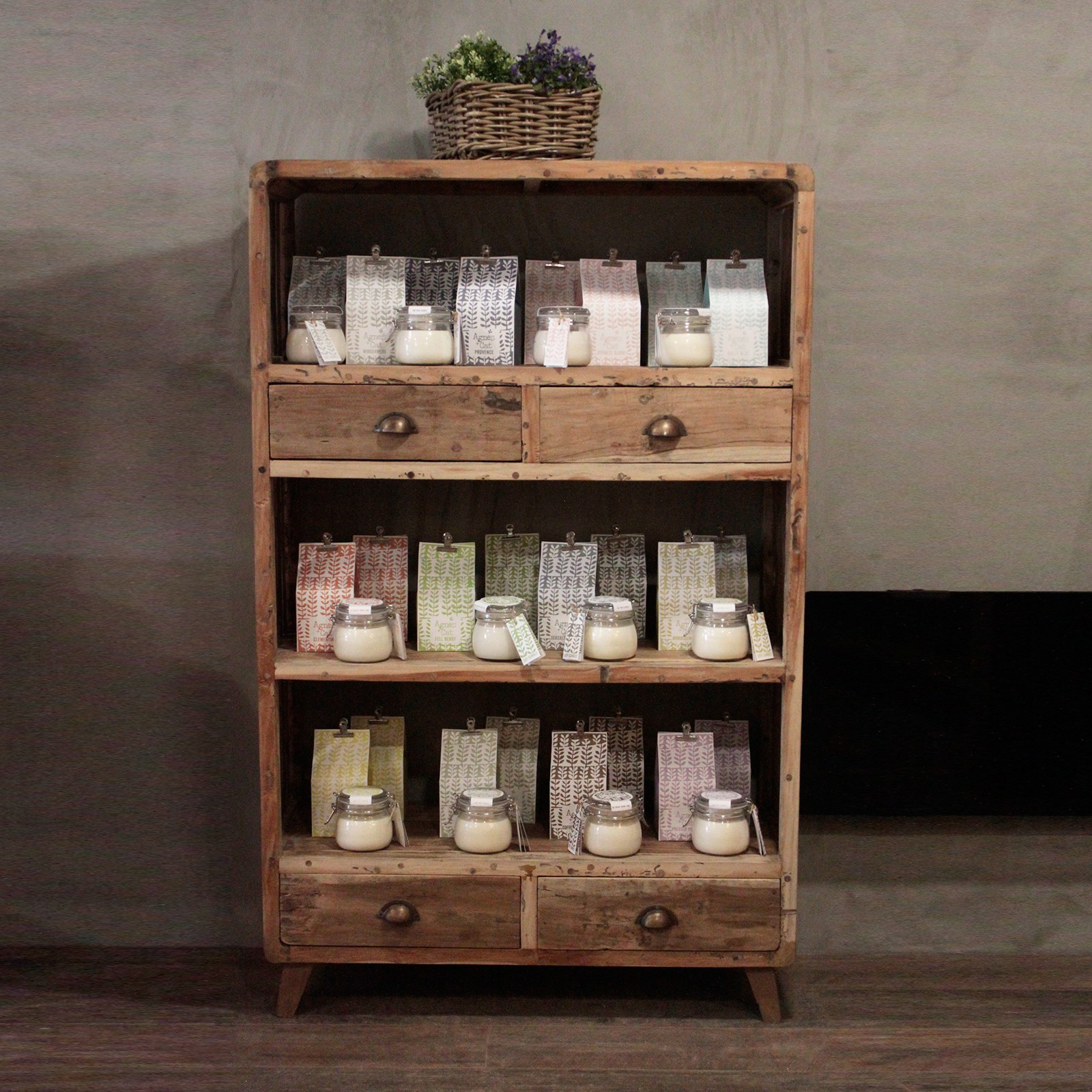 Recyclled shelf display unit from Bali