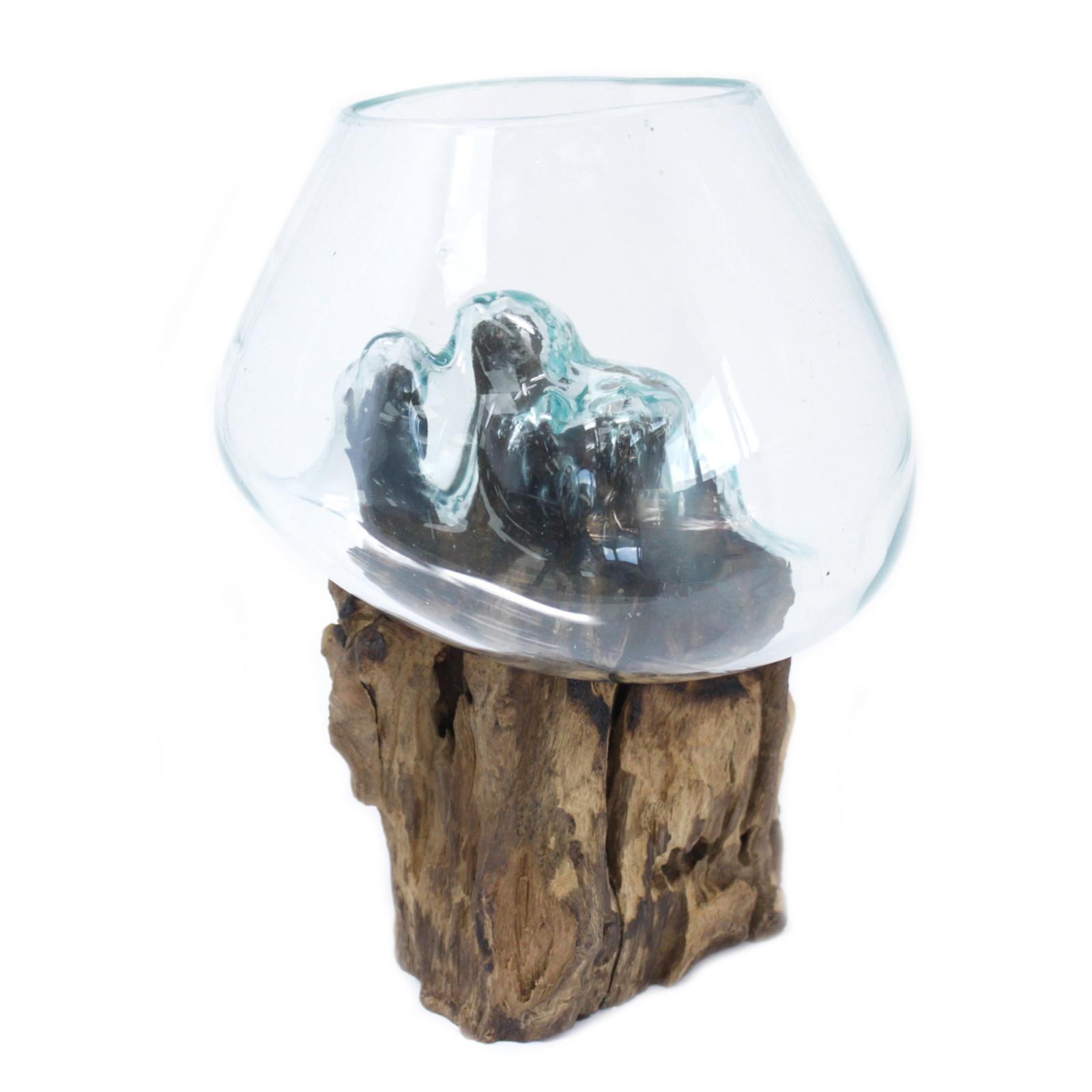 Molton Wood on Glass - Large Bowl