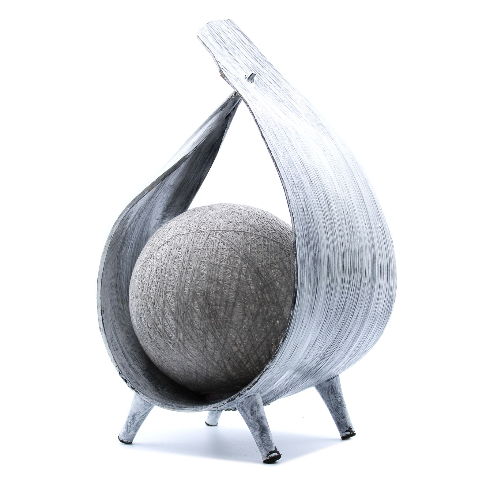 greywash coconut lamp
