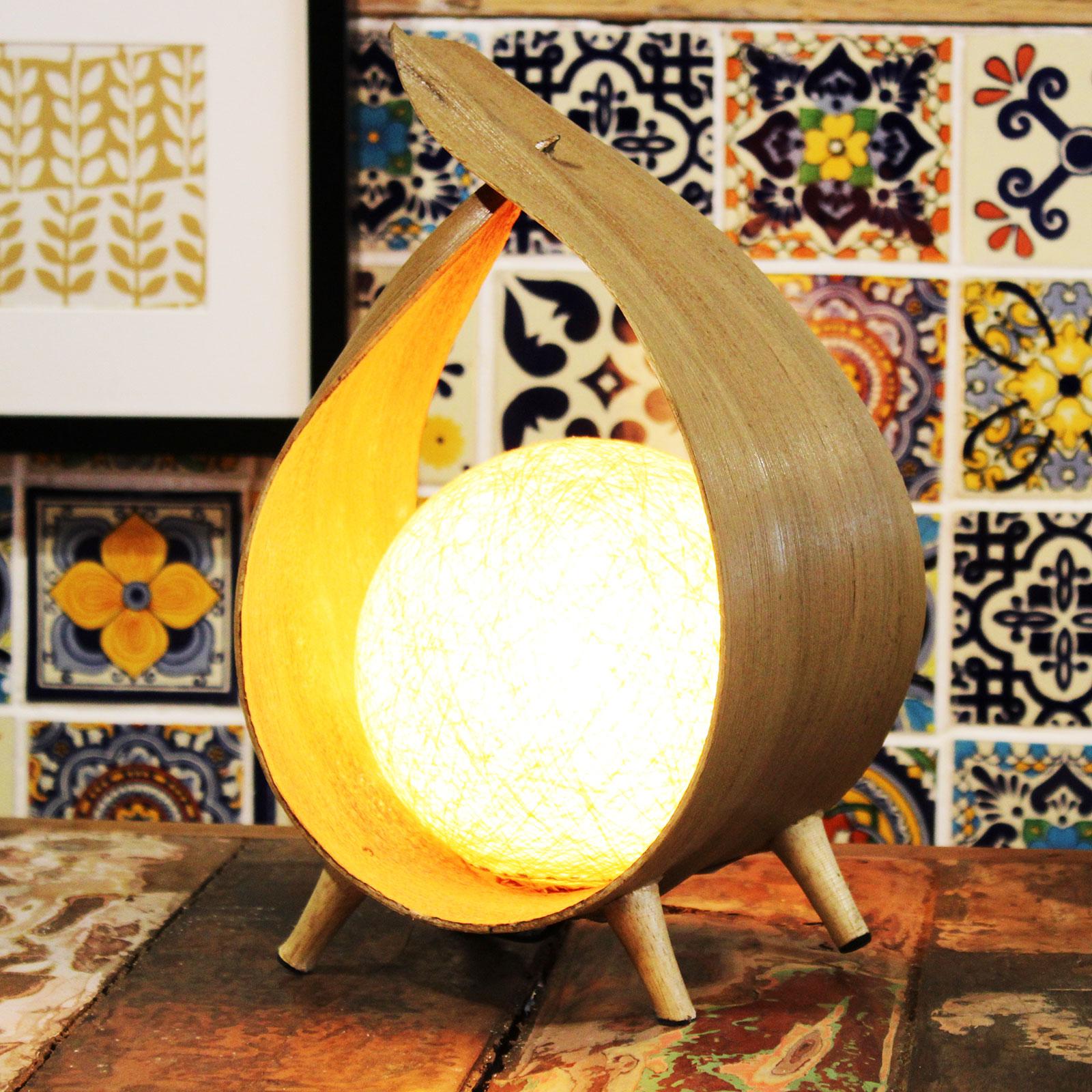 Natural Wrapover Coconut Lamp