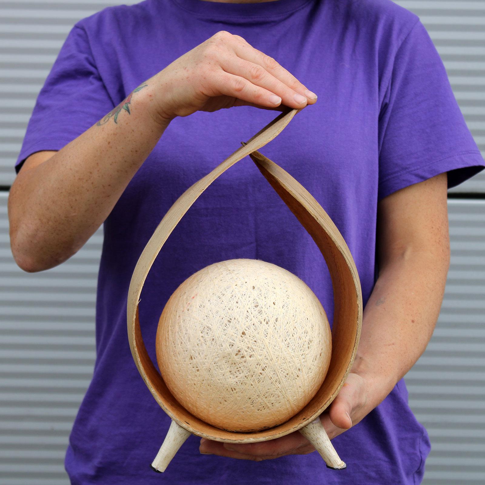 wrapover style coconut lamp