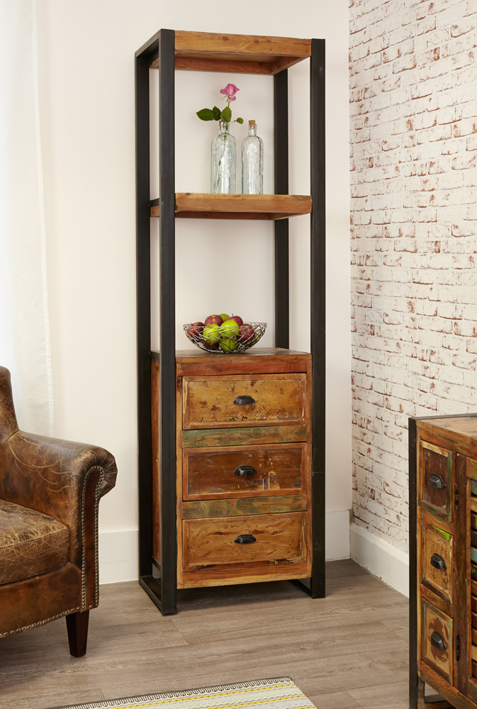 urban chic alcove bookcase with additional storage