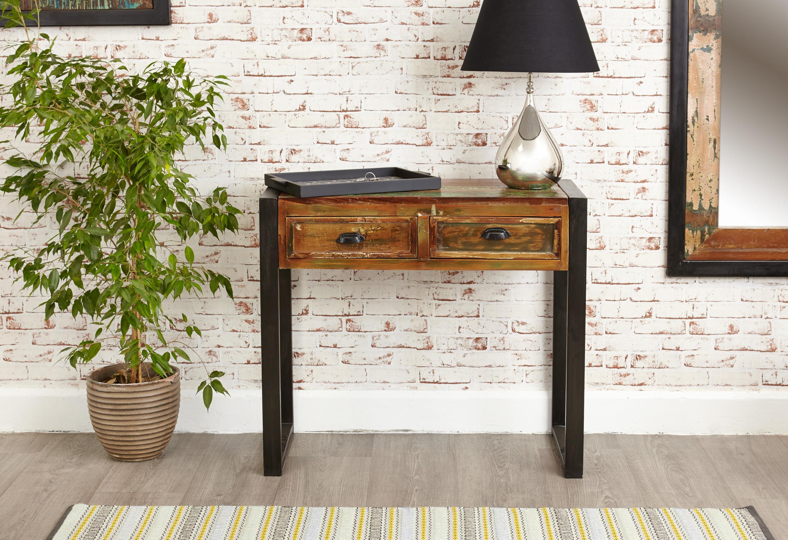 urban chic hallway console table