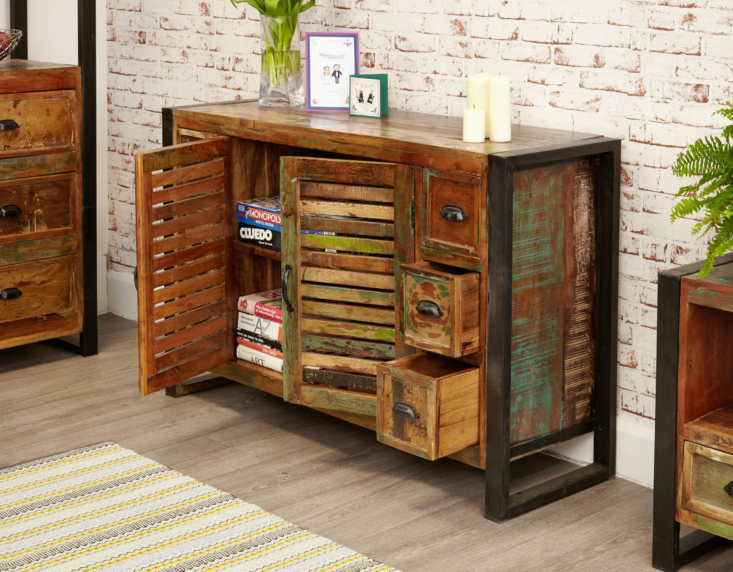 urban chic six-drawer sideboard