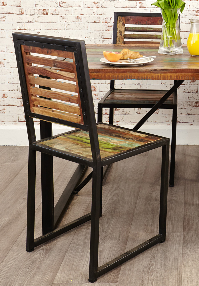 set of two urban chic dining chairs