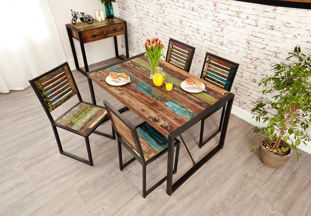 urban chic small rectangular dining table