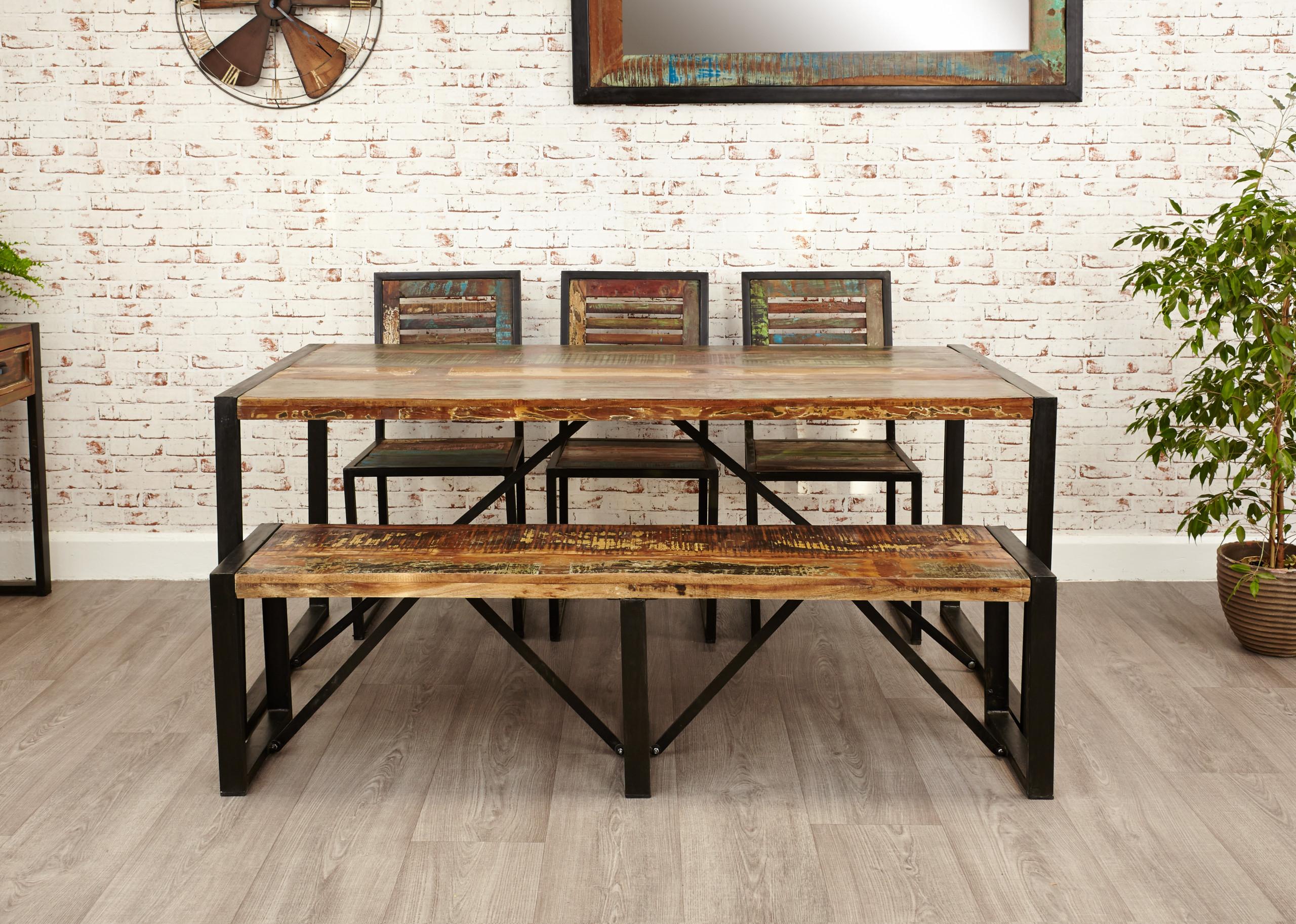 urban chic large rectangular dining table
