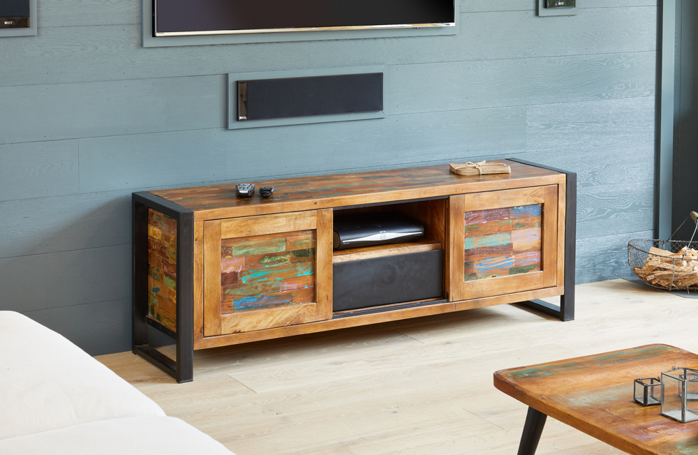 urban chic widescreen television cabinet with drawers and doors
