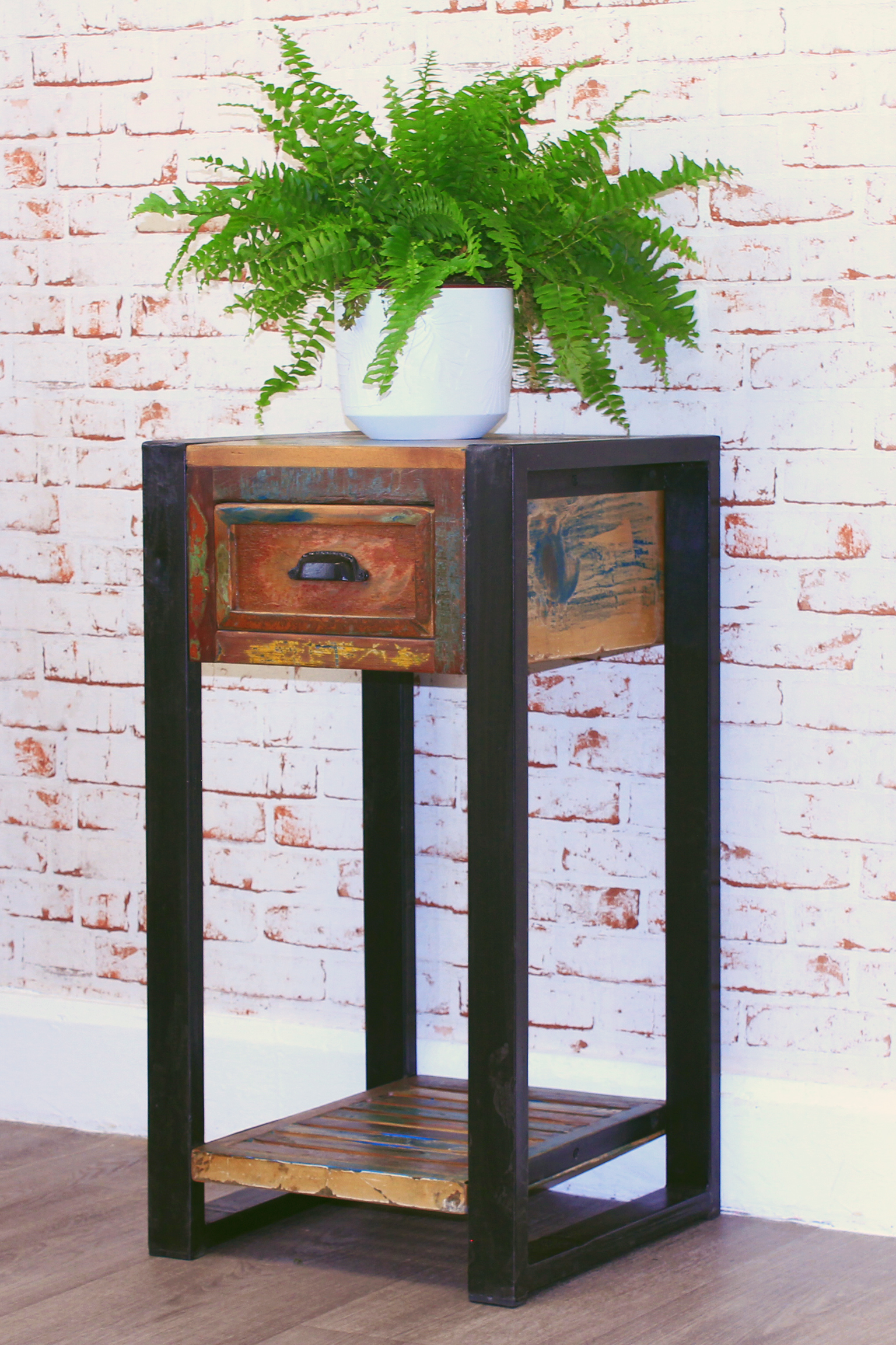 urban chic lamp table / plant stand with drawer