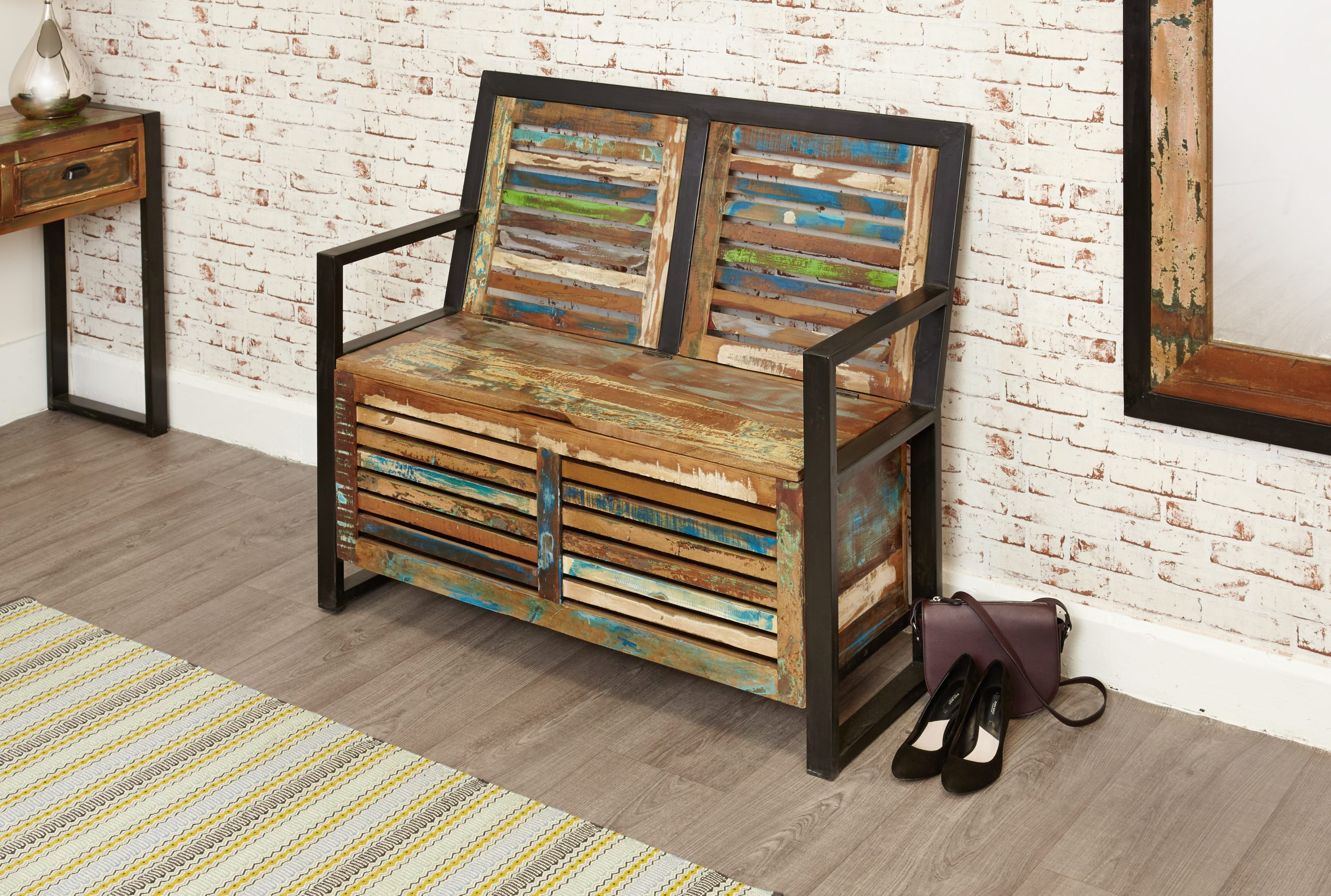 Monks bench with storage space