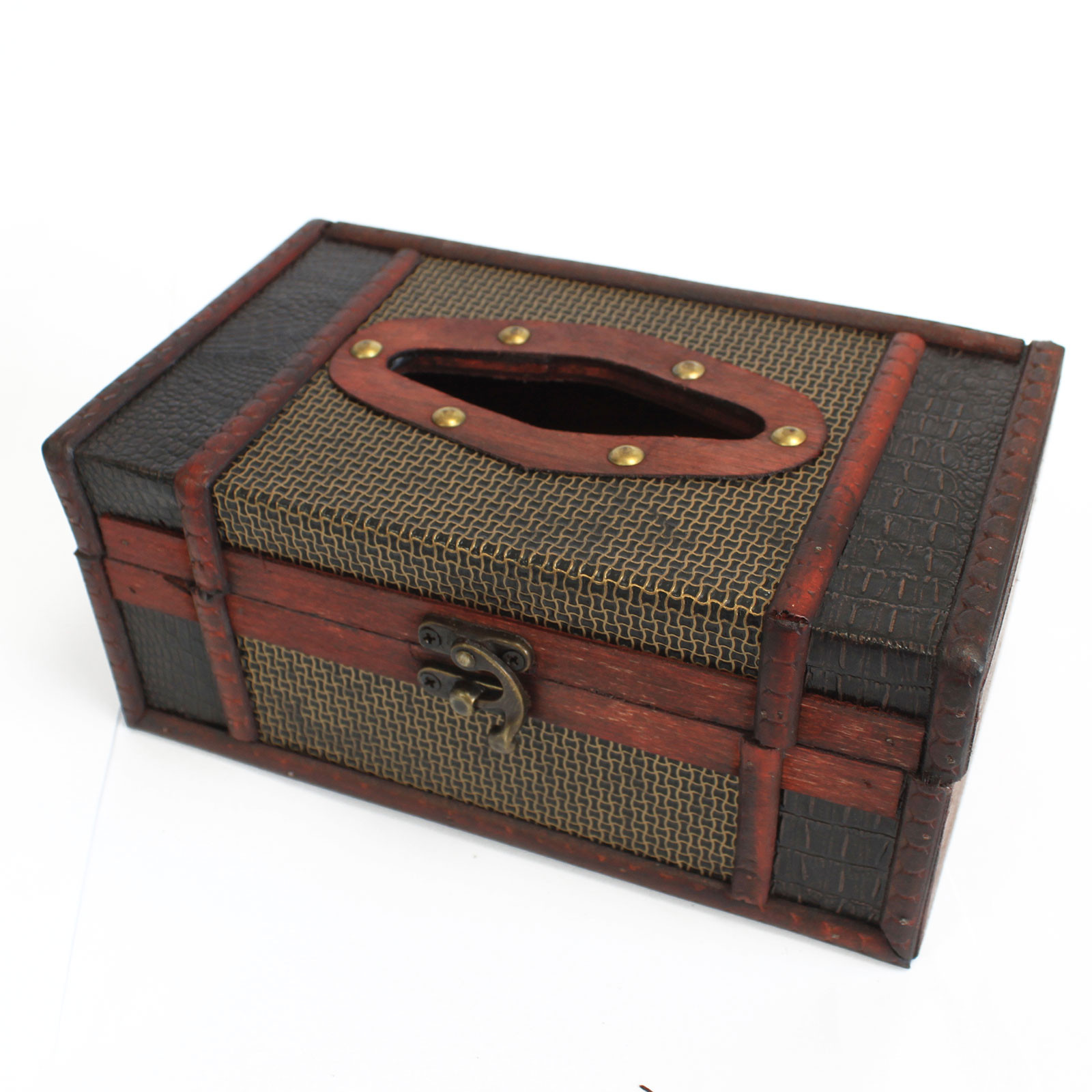 old trunk style tissue box